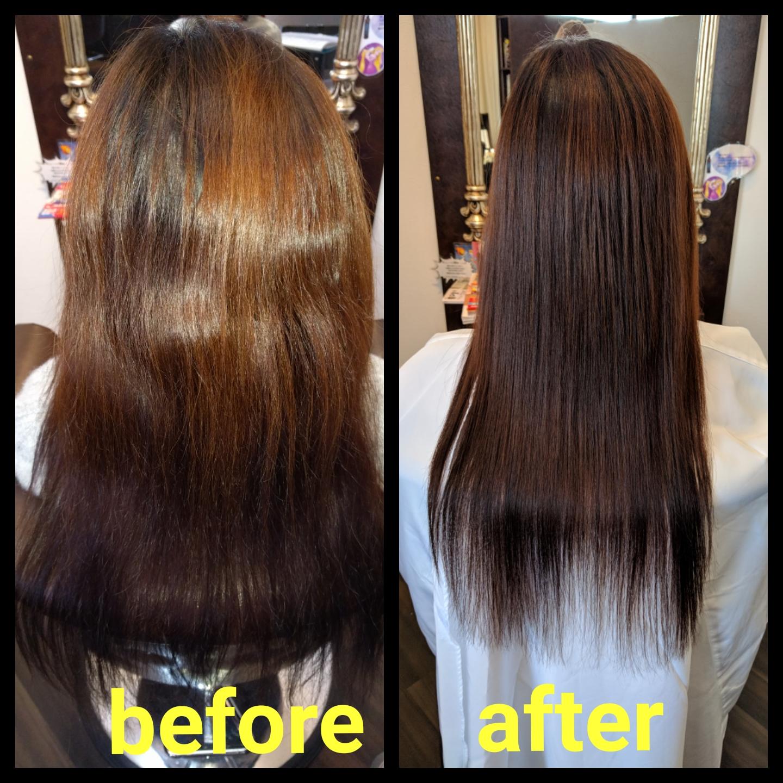 一度の施術で、ツヤツヤサラサラに!!   静岡県浜松市の髪質改善美容 ...